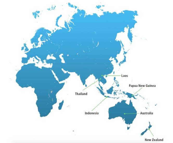 between us we have worked in Asia, Africa, Europe, US and Latin America.